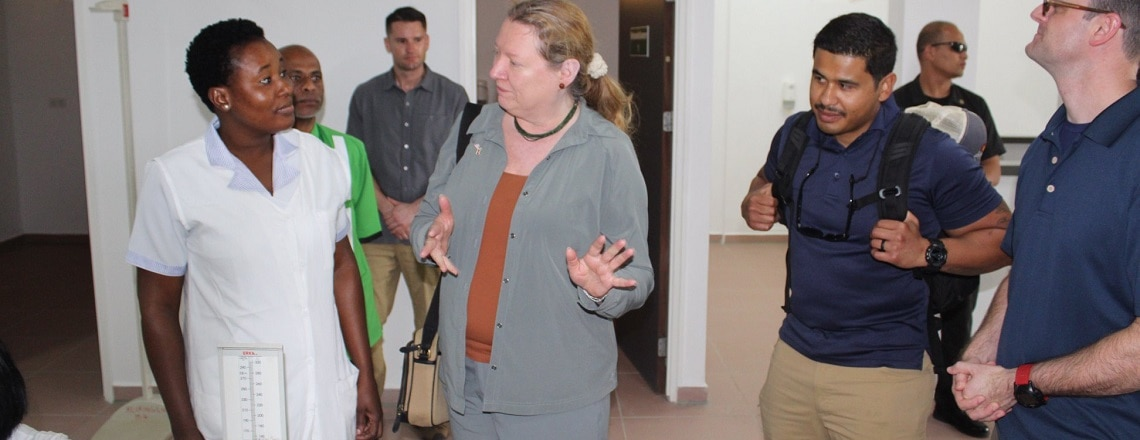 Ambassador Williams recently visited the Medical Civic Action Program in Albina.