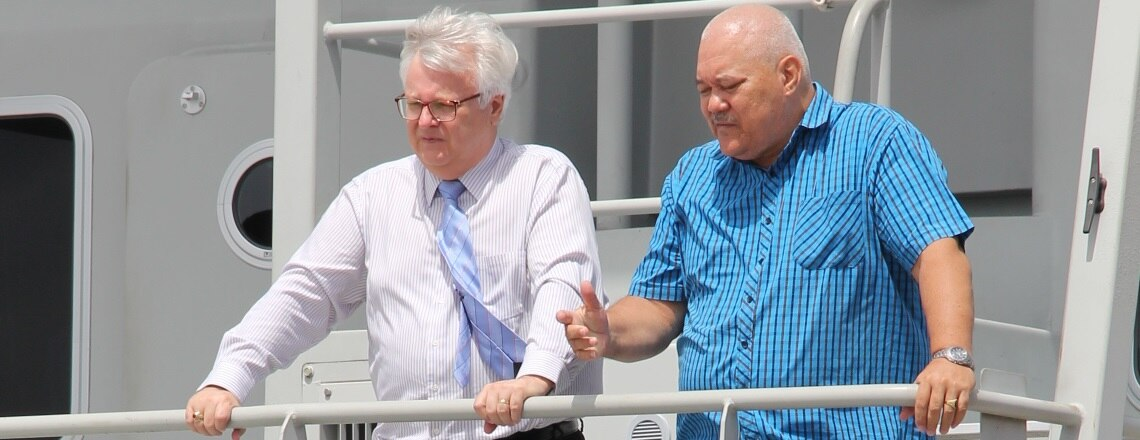 Ambassador Nolan visits Suriname Coast Guard