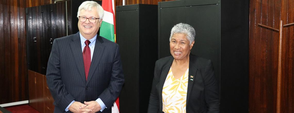Ambassador Nolan Meets Minister of Education Lilian Ferrier